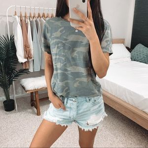 A&F - Olive Green Camouflage Tee